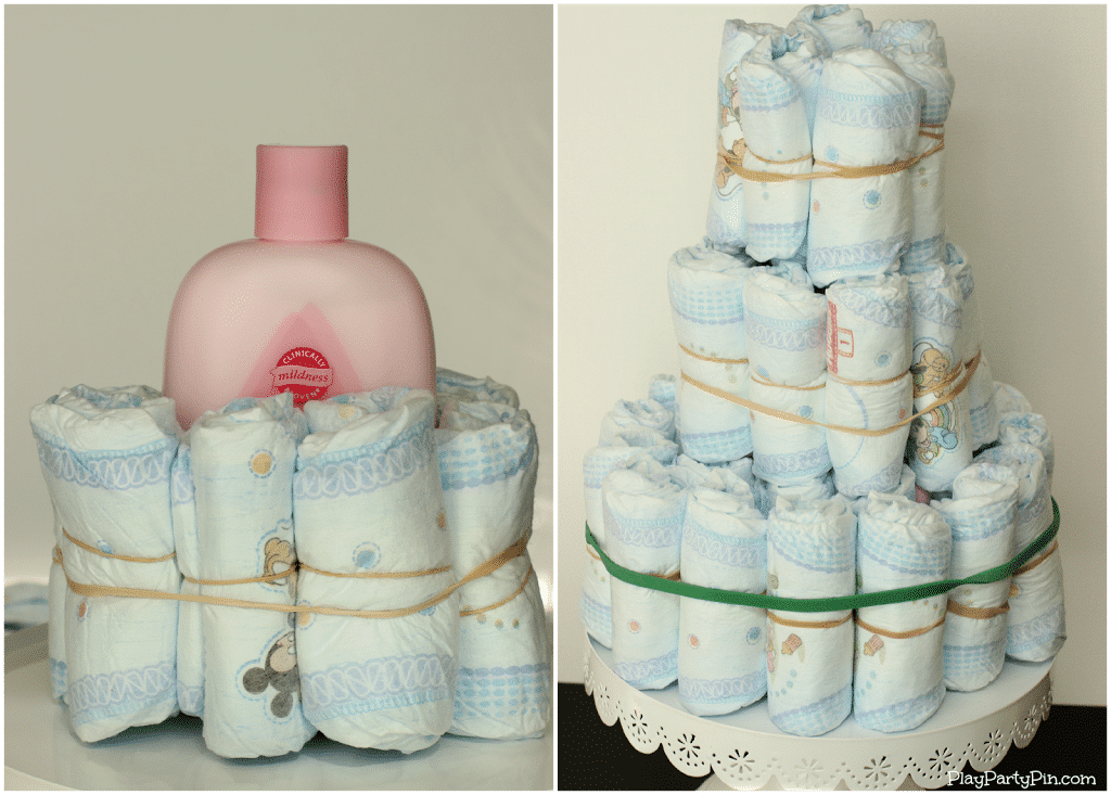 How To Make A Small Easy Diaper Cake