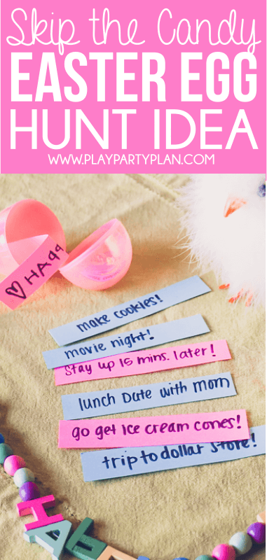 Love this no-candy Easter egg hunt ideas! And the other 10 fun Easter egg hunt ideas that work for all ages - for older kids, for adults, for teens, for toddlers, or even for babies! Children will love the unique spin on an Easter favorite! I'm definitely trying these for our outdoor church Easter Egg hunt and maybe even for our indoor community one!
