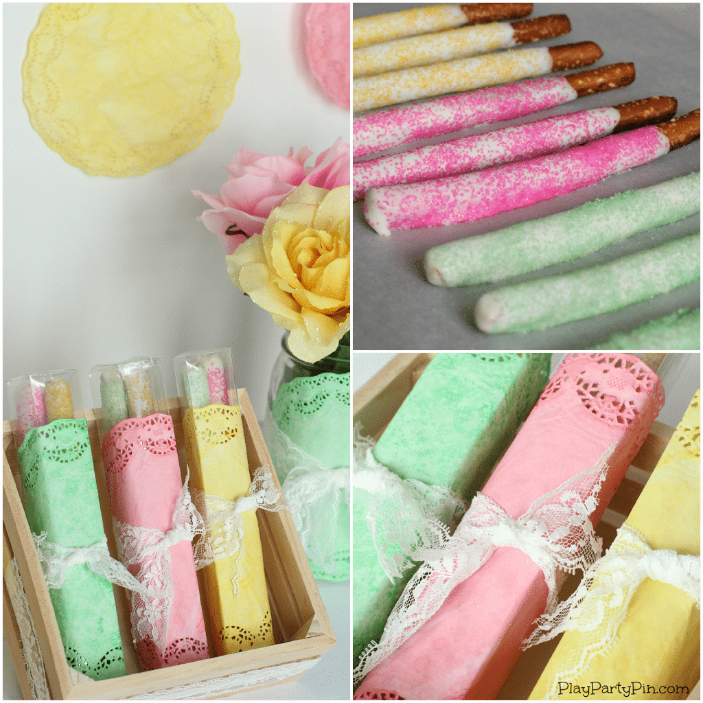 Simple spring baby shower decoration ideas from playpartypin.com #babyshower #decorations #DIY #EviteBabyTrends #paid