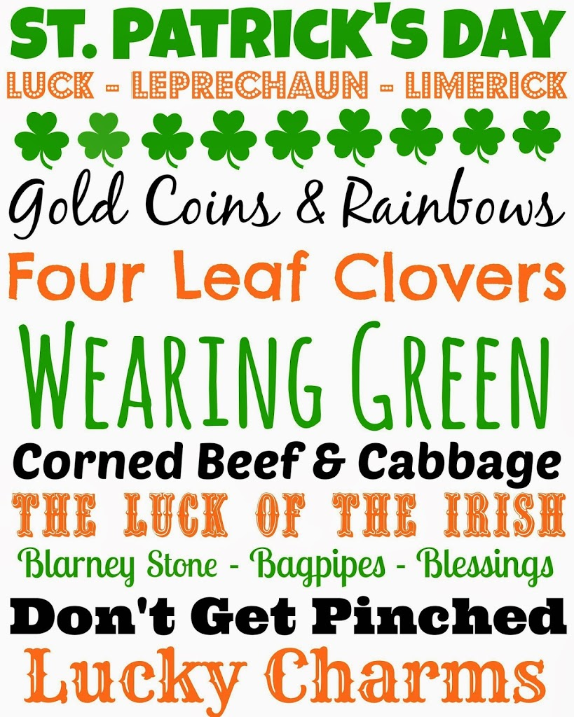 st patrick u0027s day party games ideas and free printables play