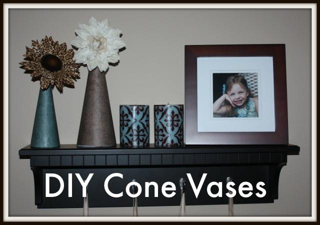Simple DIY Foam Cone Vases