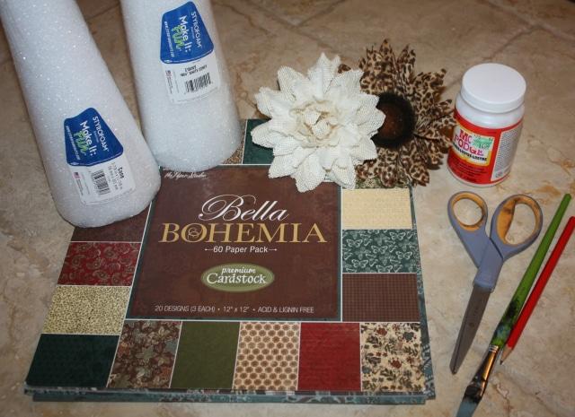 DIY Cone Vases Supplies