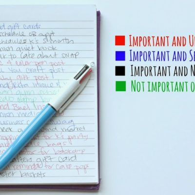How to Prioritize with BIC 4-Color Pen