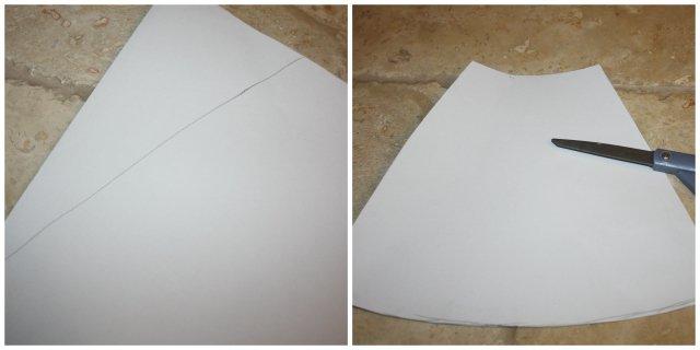 diy cone vase pattern sides cut