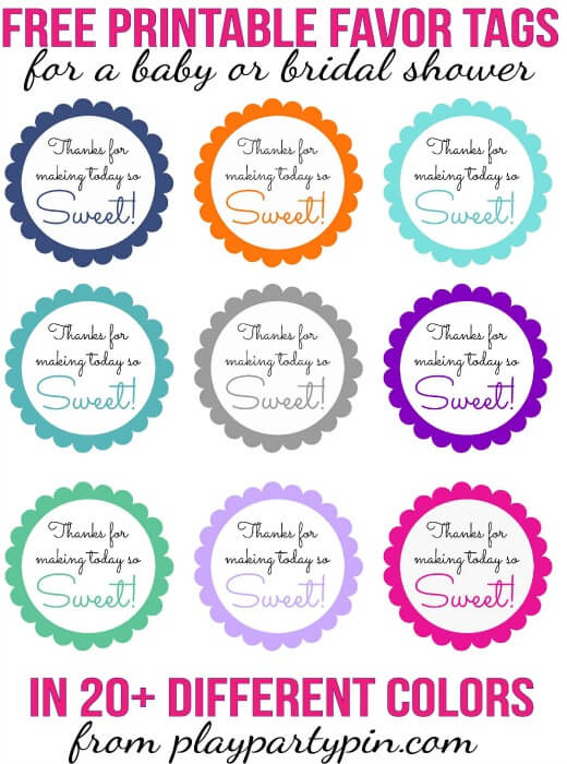 graphic about Free Printable Favor Tags titled Free of charge Printable Child Shower Prefer Tags inside of 20+ Shades - Enjoy