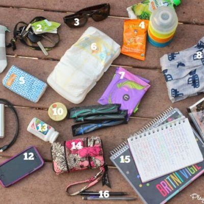 Blogger Daily Bag Checklist