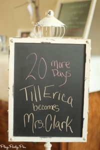 Wedding countdown chalkboard from playpartyplan.com