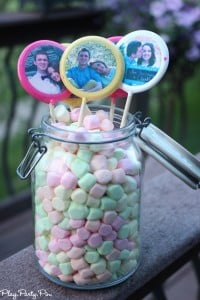 Edible personalized lollipops are perfect for a bridal shower, order on lollipops.com