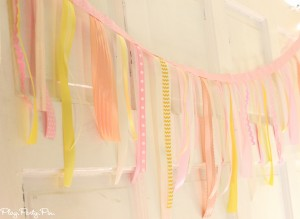 AtoZebra Celebrations ribbon garland