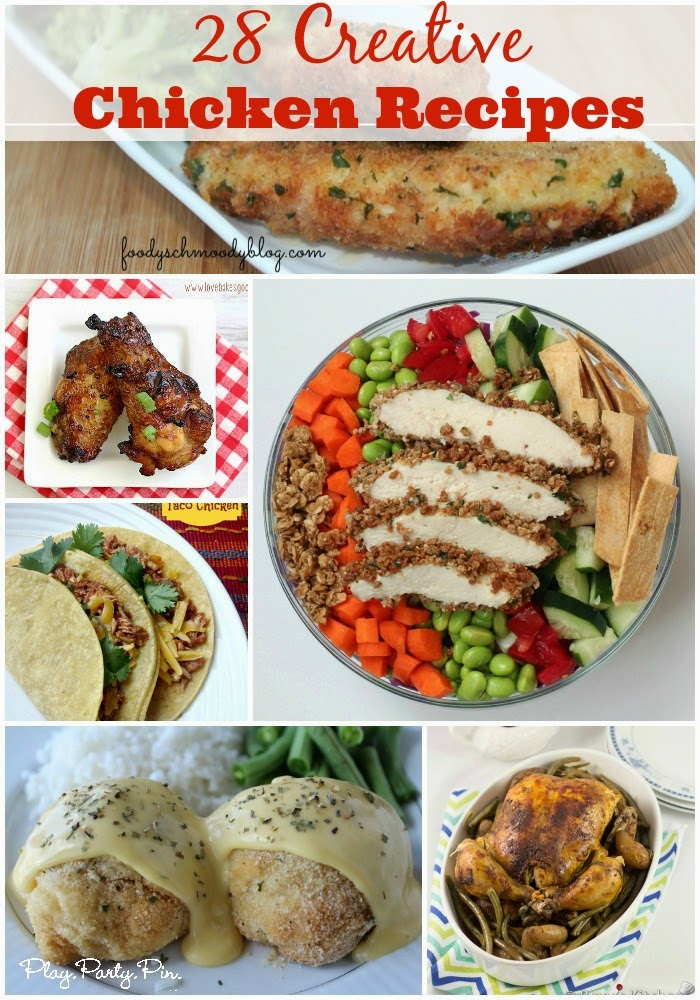 28 creative chicken recipes play party pin for Things to make for dinner with chicken