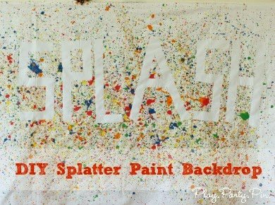 How to Make a Splatter Paint Backdrop