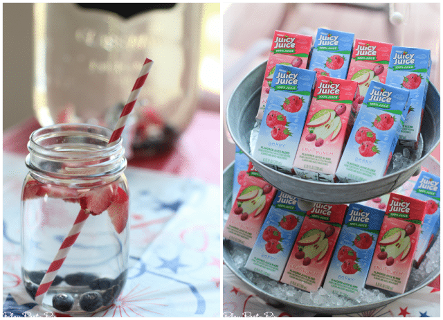 Red, white, and blue drink ideas