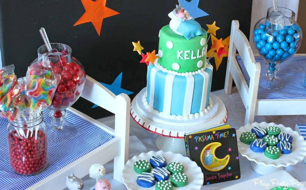 Pajama Time 1st Birthday Party Ideas
