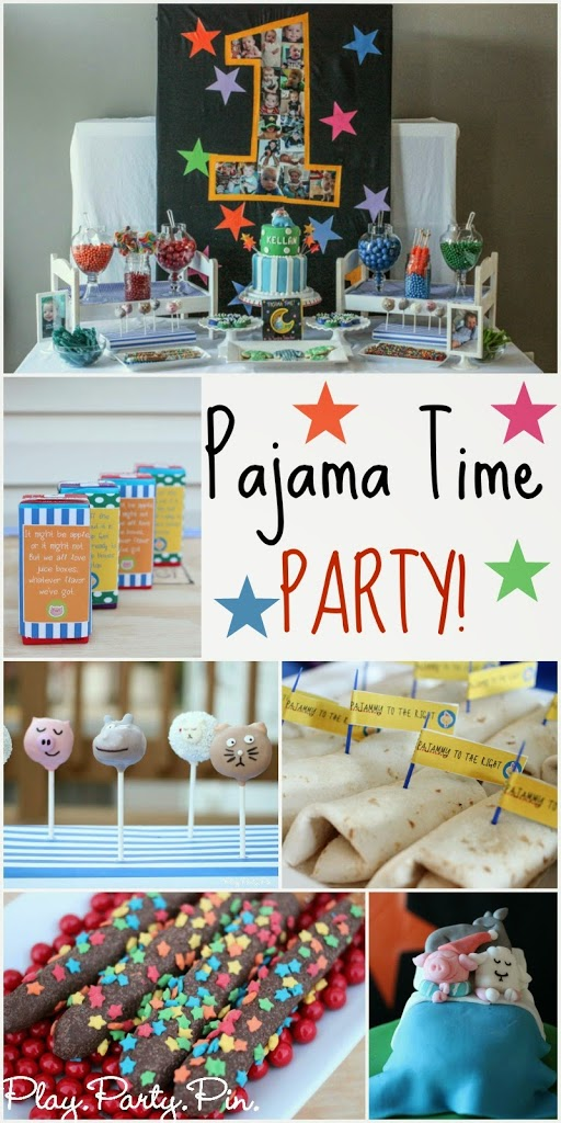 Such a cute Pajama Time birthday party from playpartyplan.com, lots of great pajama party ideas