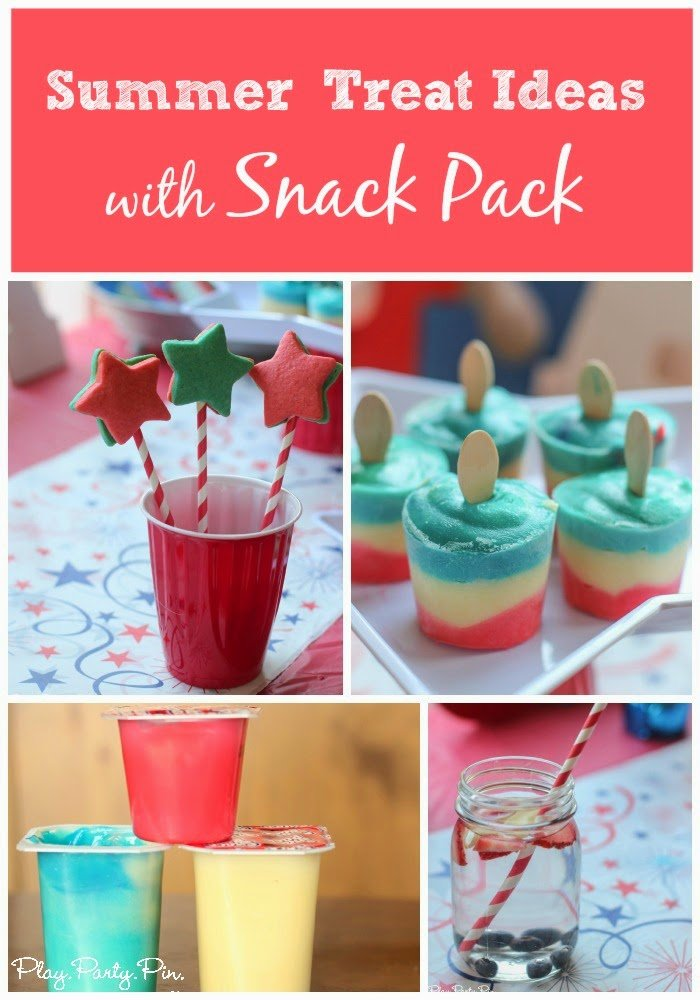 All sorts of great recipes and summer treat ideas using Snack Packs from playpartyplan.com