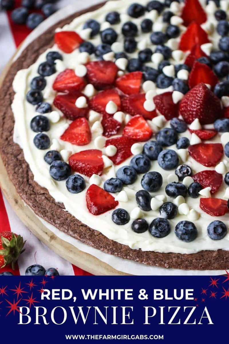red white and blue brownie cake