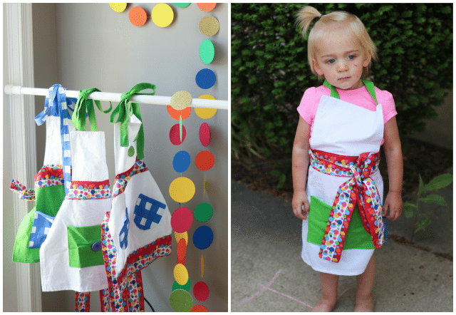 Kid's art aprons, perfect for kids and toddlers from Confetti Couture Events