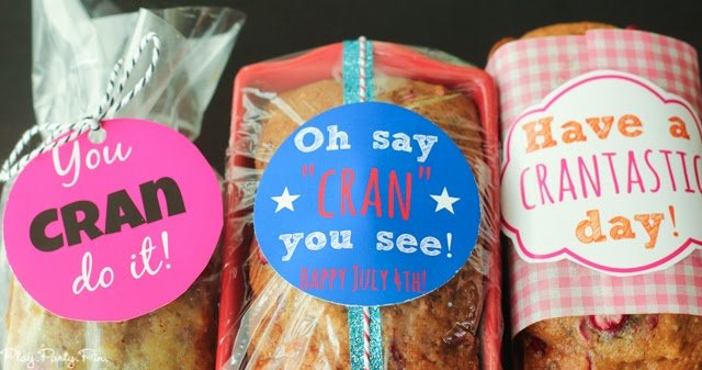 The best cranberry orange bread with cute free printable gift tags from playpartyplan.com