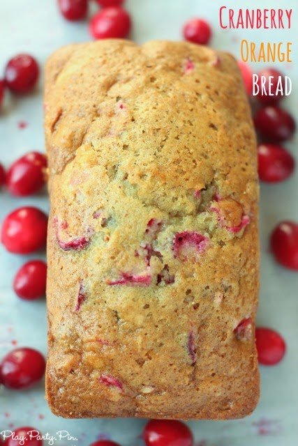 The best cranberry orange bread with cute free printable gift tags from playpartypin.com