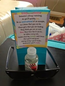 Cute girl's camp pillow treat idea, especially for YCLs and leaders