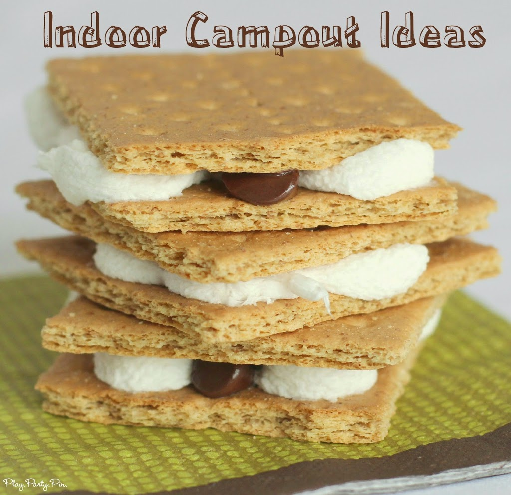 Tons of fun indoor campout ideas from playpartyplan.com