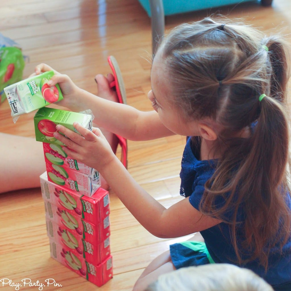 Juicebox Jenga and tower building