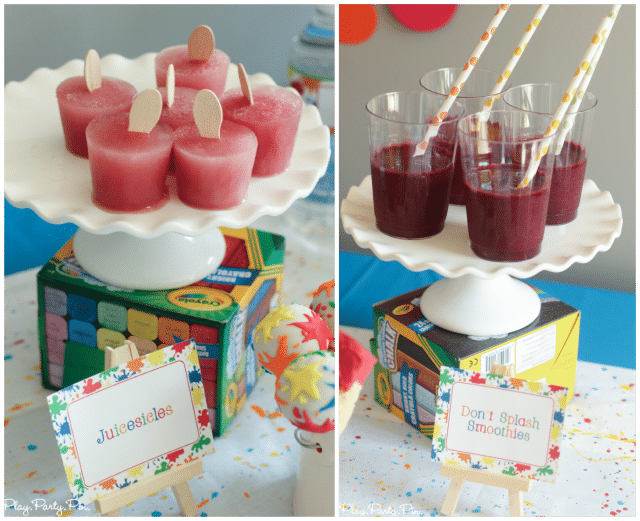 Juicy Juice smoothes and popsicles