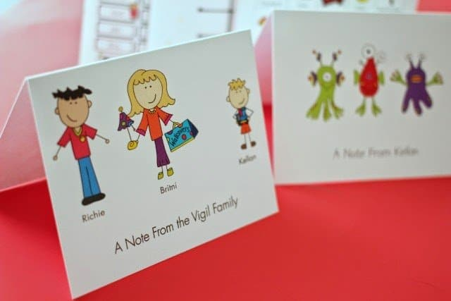 Me and My Peeps note cards from Expressionery on playpartyplan.com