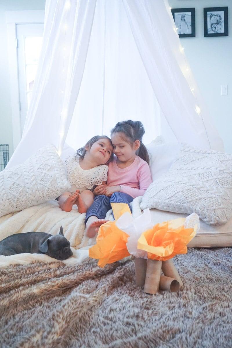 Kids indoor camping