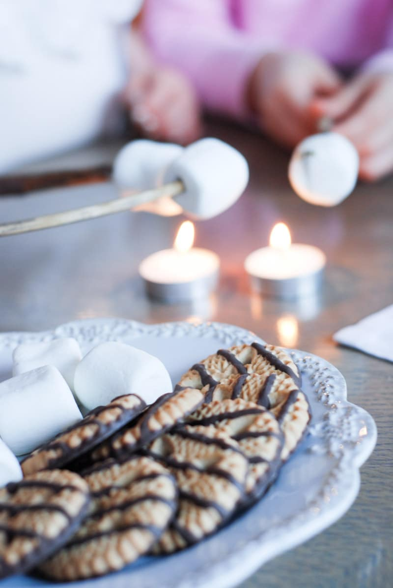 Making s'more and other indoor camping ideas