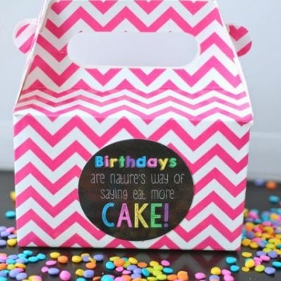 101 Inexpensive Birthday Gift Ideas and Eat More Cake Birthday Printable