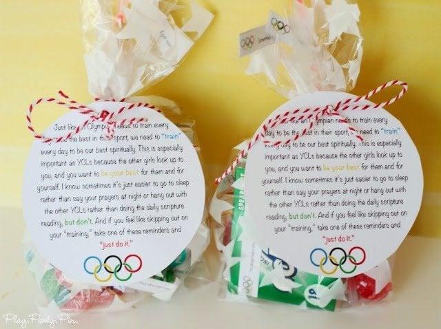 Cute Pillow Treats : Girls Camp Pillow Treat Ideas for an Olympic Theme