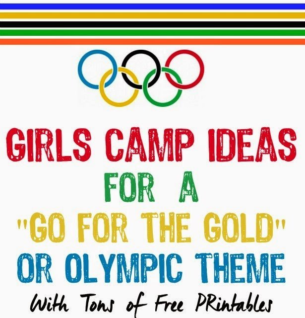 Girls Camp Ideas for Gold for the Gold or Olympic Theme from playpartyplan.com