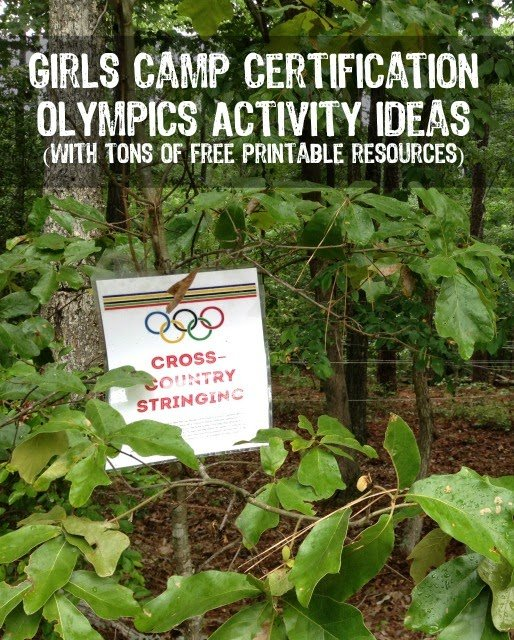 Girls camp certification Olympics activity with free printable versions of everything you need from playpartyplan.com