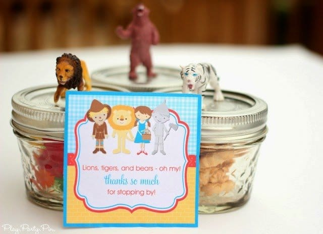Wizard of Oz party favor ideas from playpartyplan.com