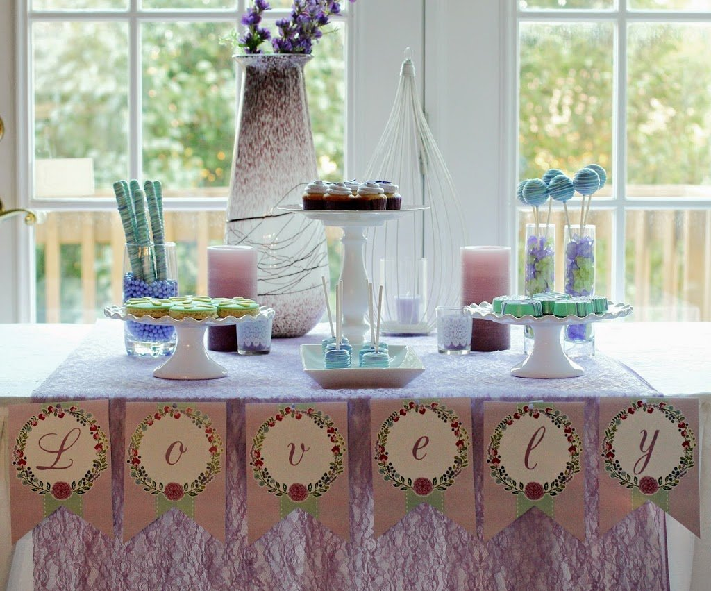 Diy Party Table Decorations lovely in lavender diy spa party - play.party.plan