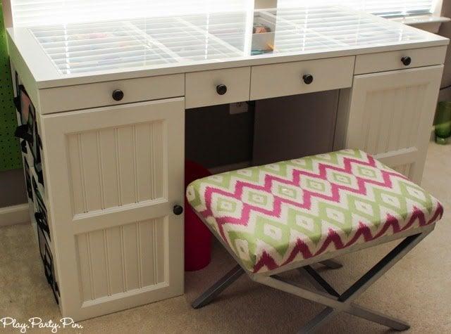 Craft Room Desk: Craft Room Organization Ideas Part 1