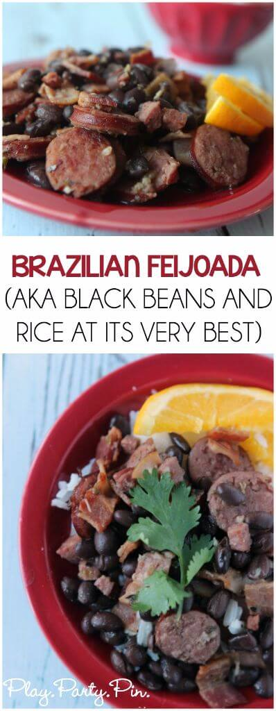 I love this stuff! Black beans and rice mixed with meat and amazing flavor, great weeknight dinner idea!