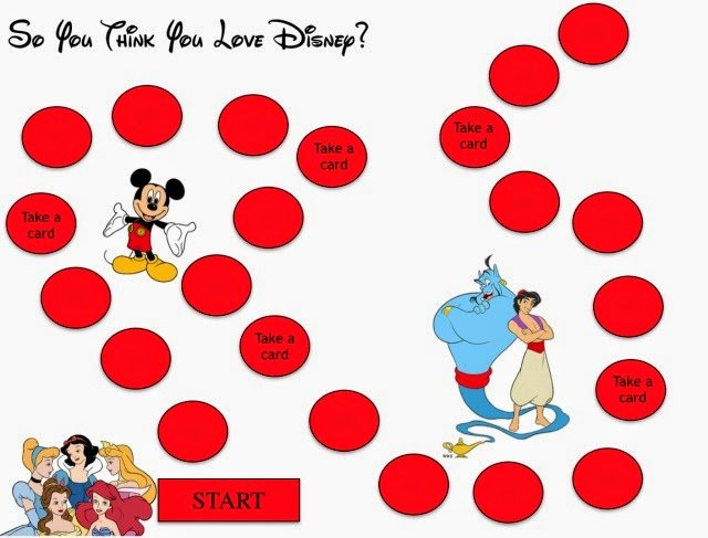 free printable disney board game and trivia questions from playpartyplancom - Disney Free Kids Games