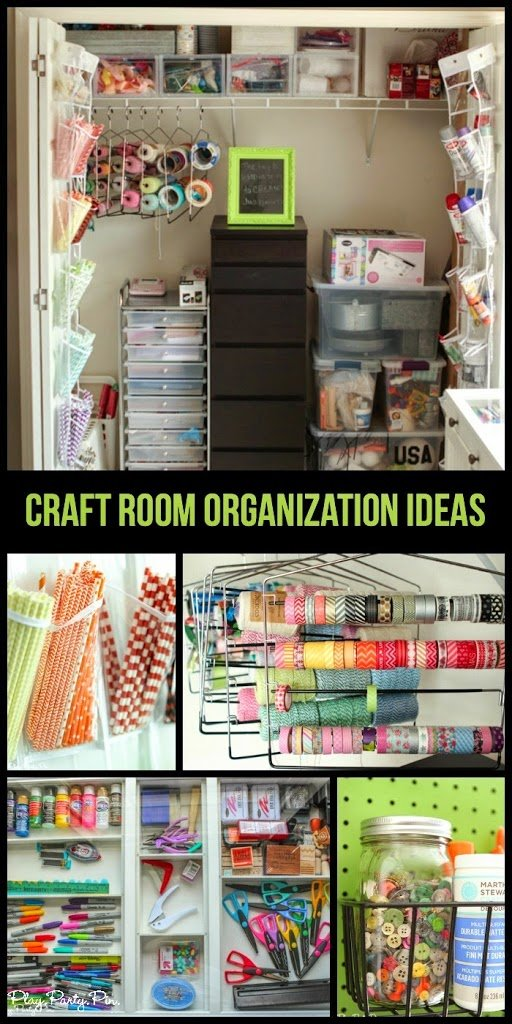 Simple And Creative Craft Room Organization Ideas From Playpartypin