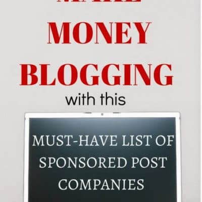 List of Sponsored Post Companies to Make Money Blogging