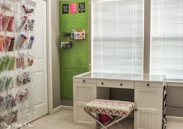 Simple and creative craft room organization ideas from playpartyplan.com