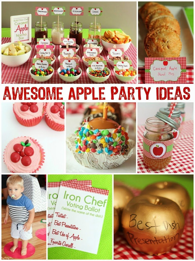 Apple party ideas including a caramel apple nacho bar and candy apple cupcakes from playpartyplan.com #FlavorOfFall #shop