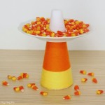 Easy Candy Corn Treat Plate