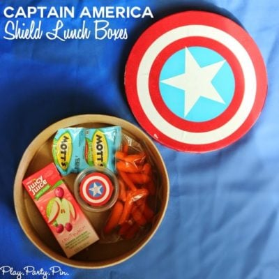 DIY Captain America Shield Lunch Boxes