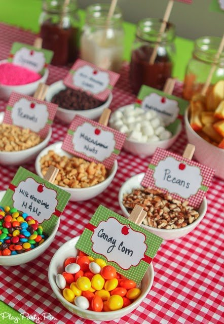 Build Your Own Caramel Apple Nacho Bar Idea From Playpartyplan.com