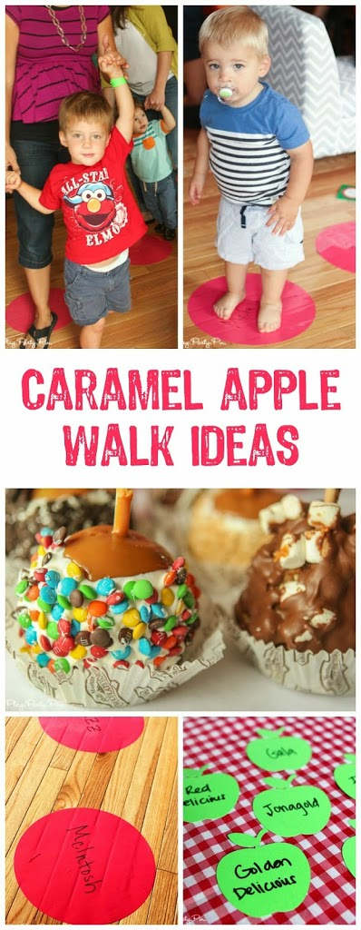 Caramel Apple Walk - such a fun idea for a fall party or festival