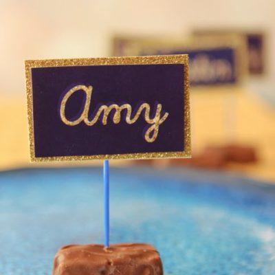 DIY Chocolate Place Cards