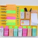 Easy DIY weekly menu board from playpartyplan.com - combination meal planner + weekly menu board
