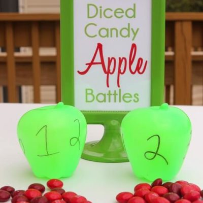 Diced Candy Apple Halloween Party Game